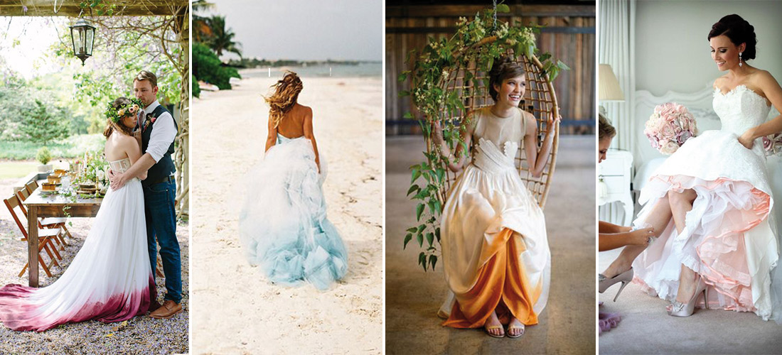 Vestidos de novia a color.