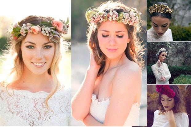 Coronas de flores para novia: ¡Nada más tierno y romántico!