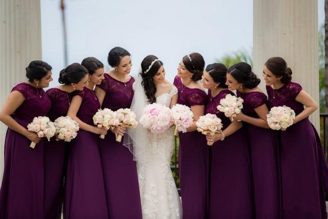Boda en color violeta, lila y morado